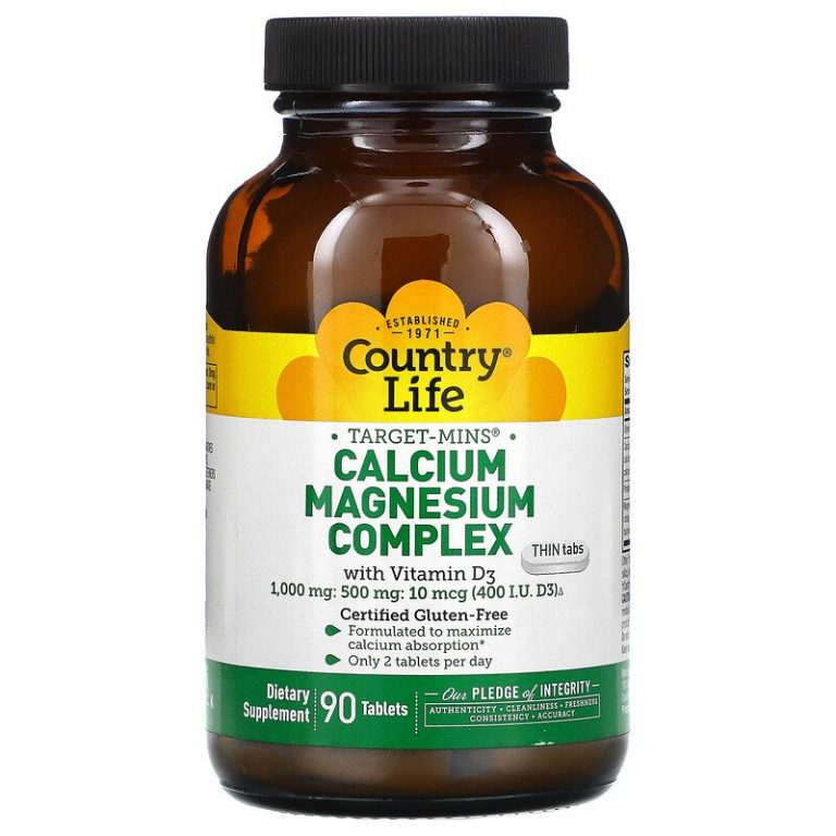 Country Life, Calcium Magnesium Complex with Vitamin D3, 90 Tablets