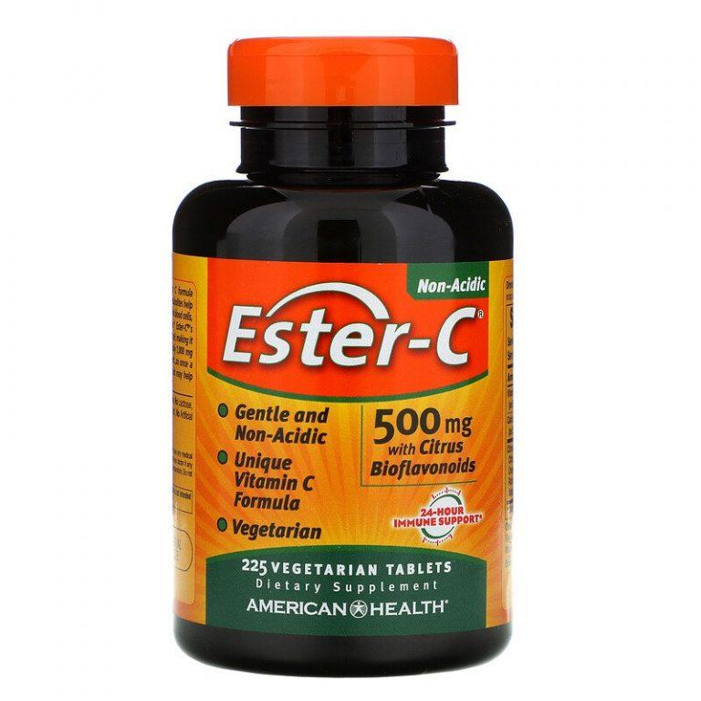American Health, Ester-C с цитрусовыми биофлавоноидами, 500 мг, 225 вегетарианских таблеток.