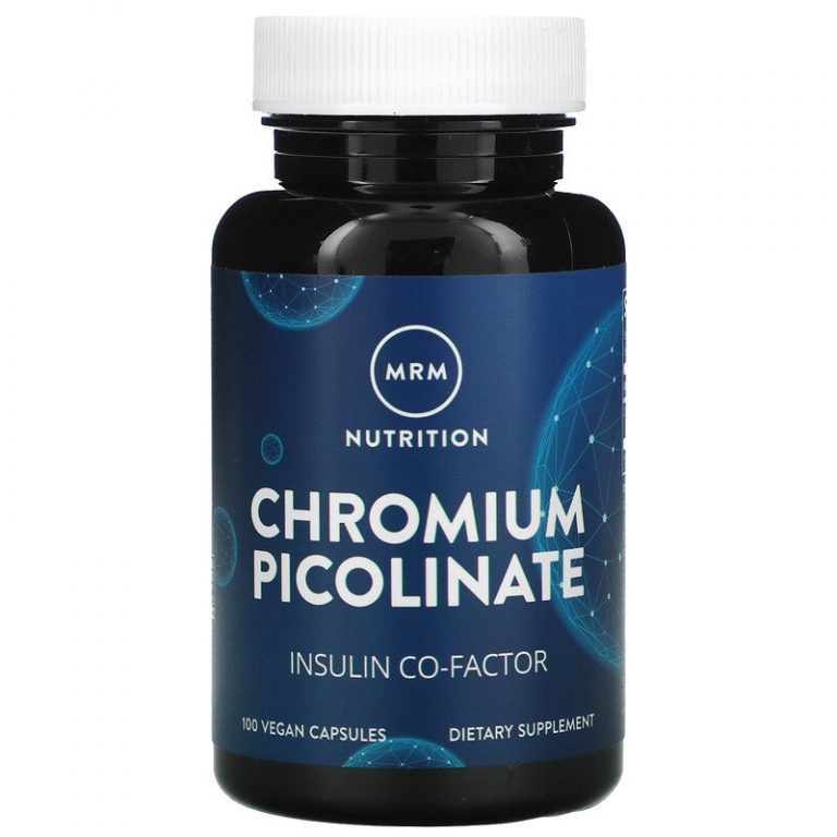 MRM, Nutrition, пиколинат хрома, 200 мкг, 100 веганских капсул