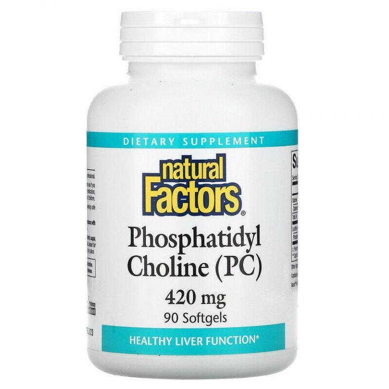 Natural Factors, Фосфатидилхолин (ФХ), 420 мг, 90 мягких таблеток.