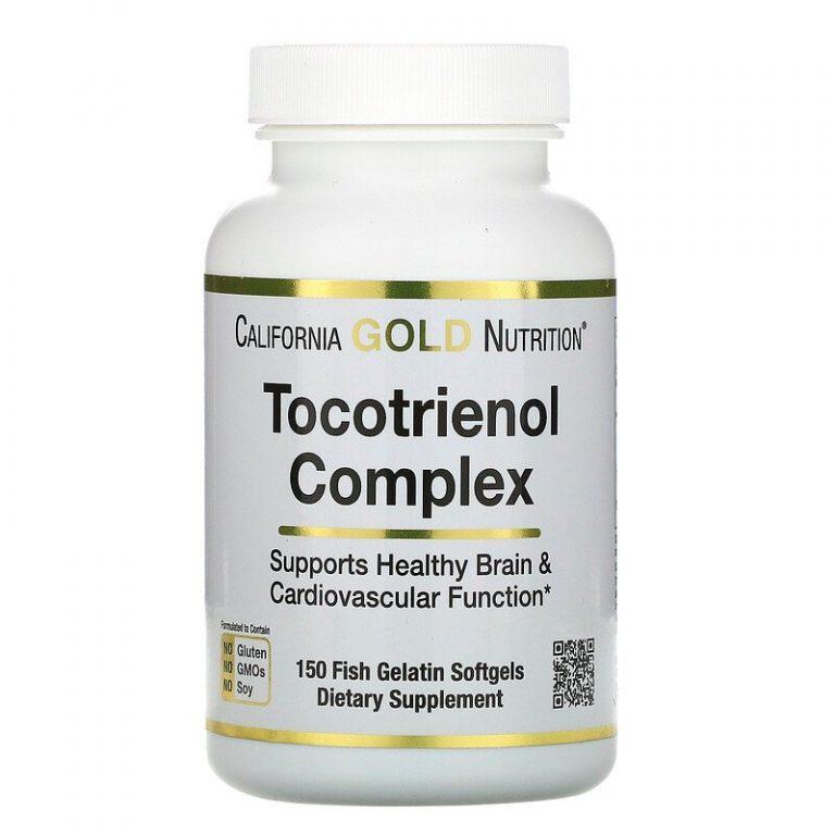 California Gold Nutrition, комплекс токотриенолов, 150 рыбно-желатиновых капсул.