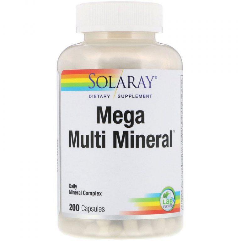 Solaray, Мультиминералы, 200 капсул