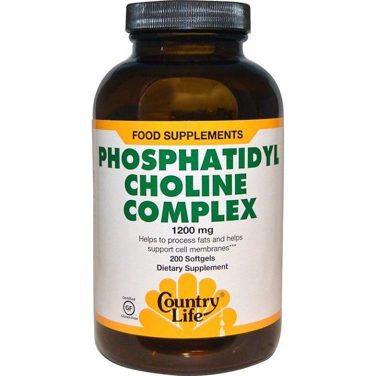 Country Life, Комплекс фосфатидилхолина, 1200 мг, 200 мягких желатиновых капсул.