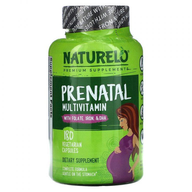 NATURELO, Пренатальный мультивитамин, 180 вегетарианских капсул