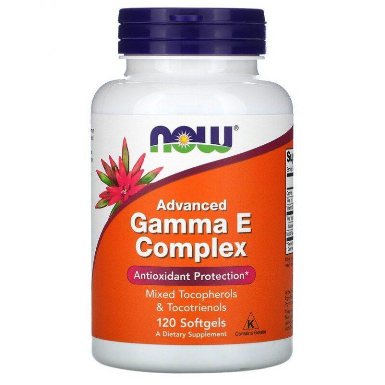 Now Foods, добавка с полным спектром витамина Е, улучшенная, 120 капсул.