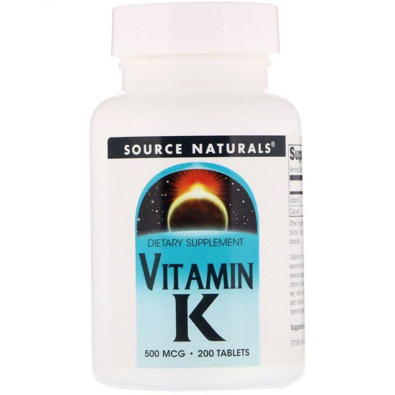 Source Naturals, Витамин К, 500 мкг, 200 таблеток