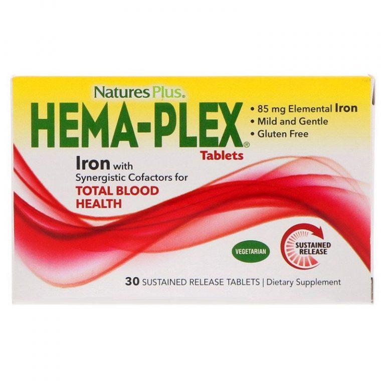 Nature's Plus, Hema-Plex, 30 таблеток с длительным высвобождением.