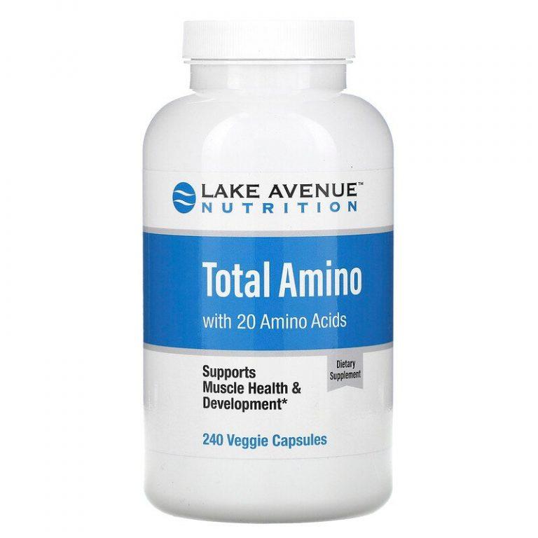Lake Avenue Nutrition, аминокислоты, 240 растительных капсул.