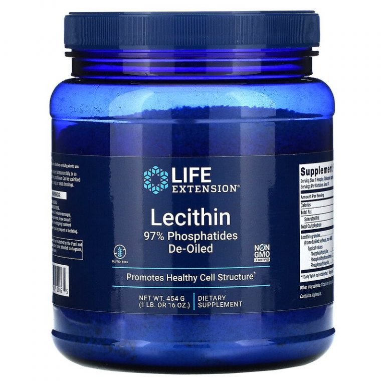 Life Extension, лецитин, 454 г (16 унций).